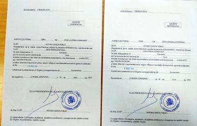 Actes de càrrecs electes de Foixà
